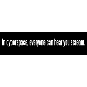 In Cyberspace Bumper Sticker