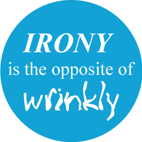 Irony Wrinkly Button