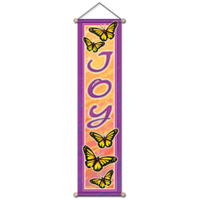 Joy And Butterfly Affirmation Banner