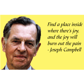 Joy Will Burn Joseph Campbell Magnet