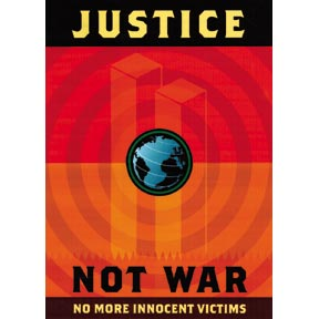 Justice Not War Poster