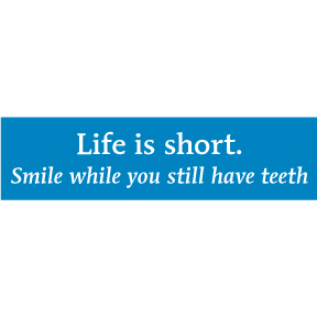Life Is Short Bumper Sticker