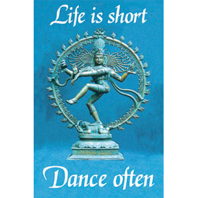 Life Is Short Dance Often Magnet