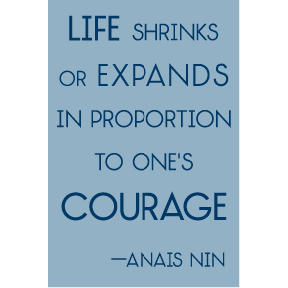 Life Shrinks Anais Nin Magnet