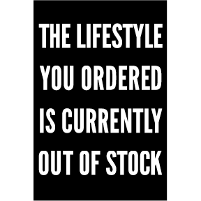 Lifestyle Out Of Stock Magnet