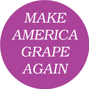 Make America Grape Again Button