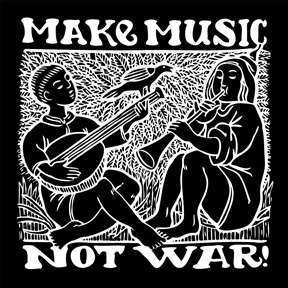 Make-Music-Not-War-Sticker