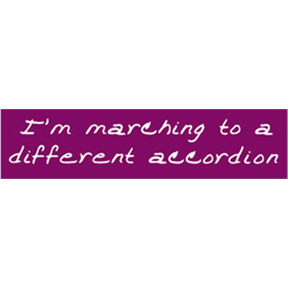 Marching-Different-Accordian-Bumper-Sticker