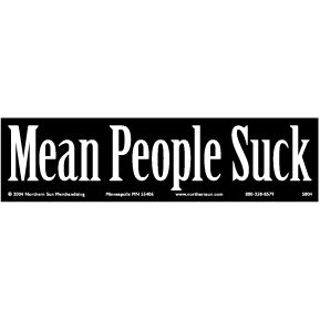 Mean-People-Suck-Bumper-Sticker