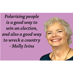 Molly Ivins Magnet