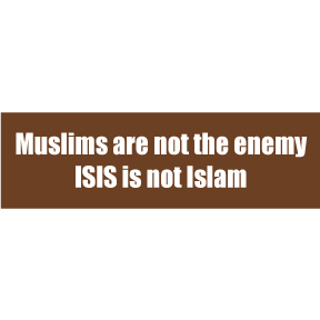 Muslims Are Not The Enemy Sticker