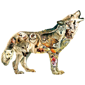 Native American Wolf Puzzle