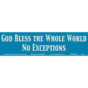 No Exceptions God Bless Bumper Sticker