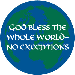 No Exceptions God Bless Button