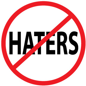 No Haters Button