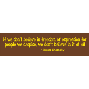 Noam Chomsky Freedom Of Expression Bumper Sticker