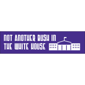 Not Another Bush White Bumper Sticker