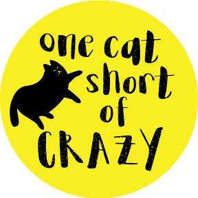 One-Cat-Short-Of-Crazy-Button
