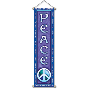 Peace On Earth Affirmation Banner