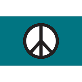 Peace Sign Flag 3' x 5'