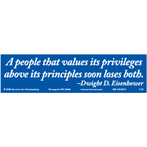 People-That-Values-Eisenhower-Bumper-Sticker