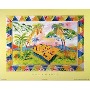 Picnic With Nature Jane Evershed Poster