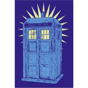Police Box Dr Who 2x3 Magnet