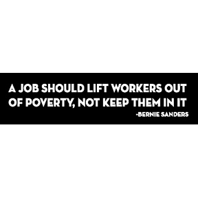 Poverty Bernie Sanders Bumper Sticker