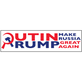 Putin Trump Russia Bumper Sticker