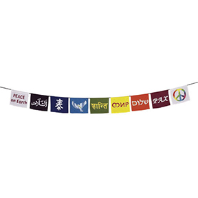 Rainbow Peace Flags Banner