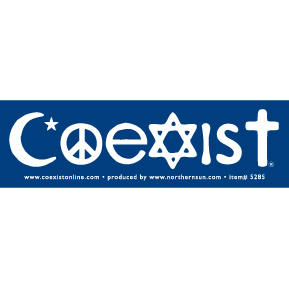 Religions Coexist Sticker