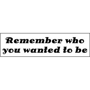 Remember Wanted Bumper Sticker