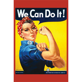 Rosie The Riveter 2x3 Magnet