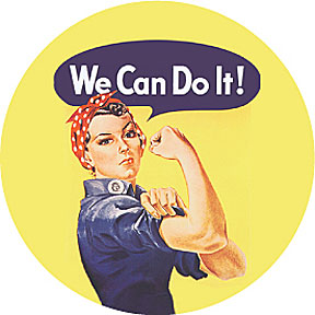 Rosie The Riveter Round Magnet
