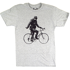 Sasquatch-Cyclist-T-Shirt