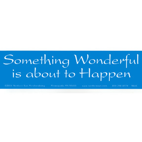 Something Wonderful Bumper Sticker