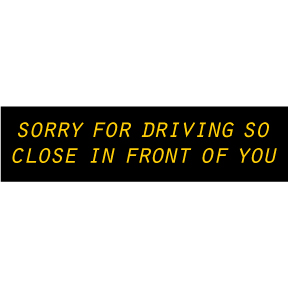 Sorry For Driving In Front Bumper Sticker