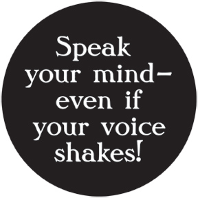 Speak Your Mind Button