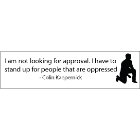 Take A Knee Colin Kaepernick Bumper Sticker