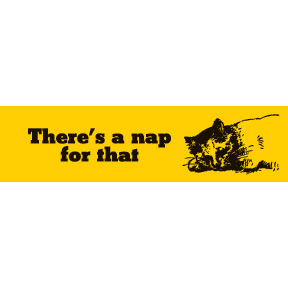 There's-A-Nap-For-That-Bumper-Sticker