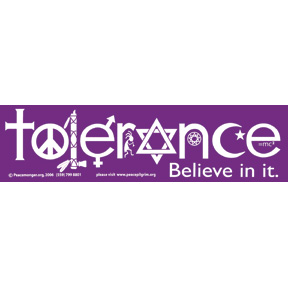 Tolerance-Bumper-Sticker