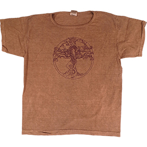 Tree Pose Womens Clay-Dyed T-Shirt