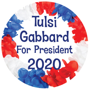 Tulsi Gabbard For President Button