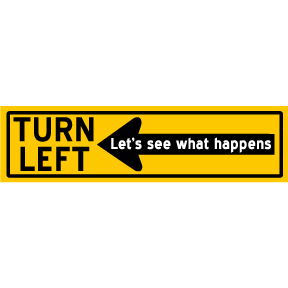Turn-Left-Bumper-Sticker