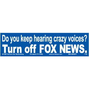 Turn Off Fox News Bumper Sticker