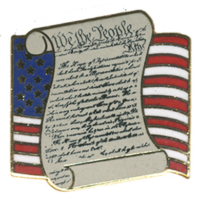 US Flag Constitution Lapel Pin