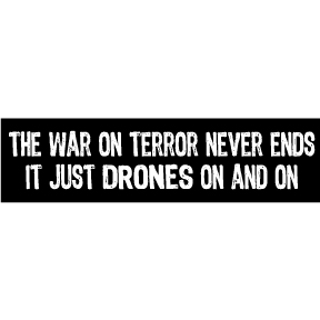 War-Drones-On-Bumper-Sticker