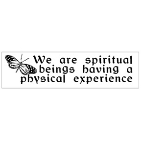 We Are Spiritual Beings Bumper Sticker