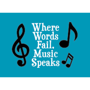 Where Words Fail Music Speaks 2x3 Magnet