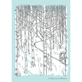 Winter Bike 12 Note Card Set